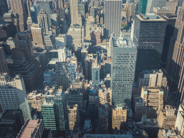 Skyscrapers in the city - Stock Photo - Images