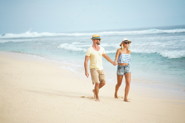 Happy couple outdoors - Stock Photo - Images