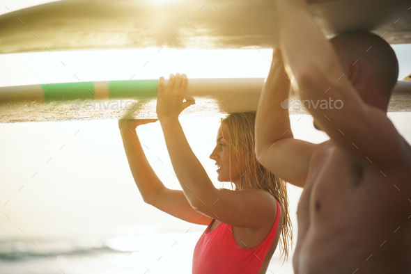 Active couple outdoors - Stock Photo - Images