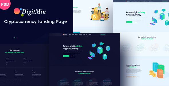 DigitMin – Bitcoin & Cryptocurrency PSD Template