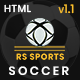 RS Sports - Soccer & Football Club HTML Template - ThemeForest Item for Sale