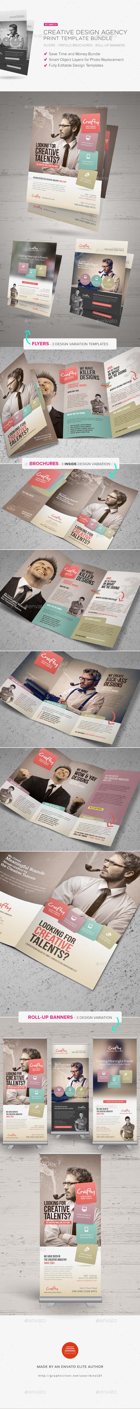 Creative Design Agency Print Bundle - Brochures Print Templates
