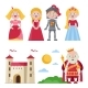 Characters of Medieval Tales with Castle - GraphicRiver Item for Sale