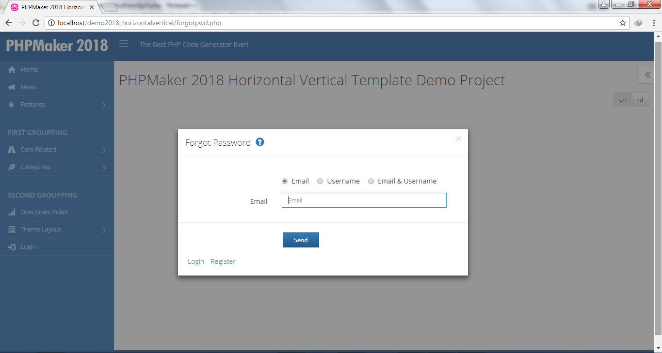 Advanced Horizontal Vertical Layout for PHPMaker 2018 Template by ...
