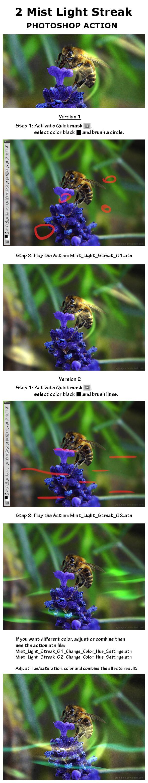 2 Mist Light Streak Photoshop Action - Utilities Actions