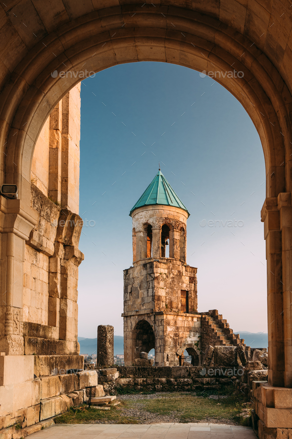 Kutaisi, Georgia. Old Walls And Bell Tower Of Bagrati Cathedral. - Stock Photo - Images