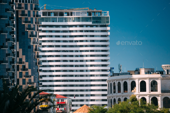 Batumi, Adjara, Georgia. New Multi-storey Residential House - Stock Photo - Images