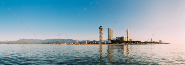Batumi, Adjara, Georgia. Modern Architecture In Seafront Promena - Stock Photo - Images