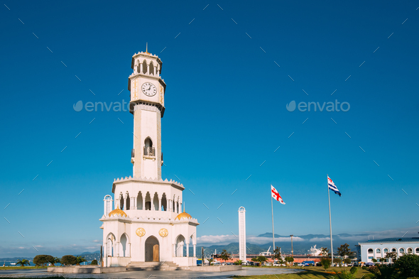 Batumi, Adjara, Georgia. Chacha Tower Is Local Landmark Attracti - Stock Photo - Images