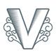 Valor Vape V Letter Logo