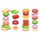 Burger and Sandwich Ingredients Set, Bun, Cheese