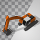 Lowpoly Excavator - VideoHive Item for Sale