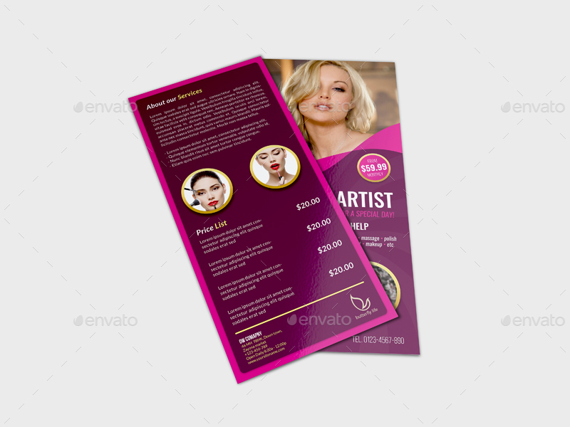 Beauty Center Flyer Dl Size Template Vol2 By Owpictures Graphicriver