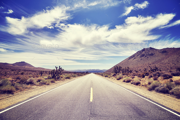 Picture of a deserted road, travel concept. - Stock Photo - Images