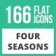 166 Four Seasons Flat Icons