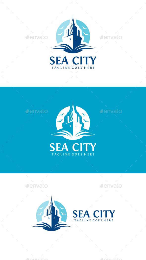Sea Ciity Logo - Buildings Logo Templates