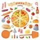 Pizza Vector Italian Food with Cheese and Tomato - GraphicRiver Item for Sale