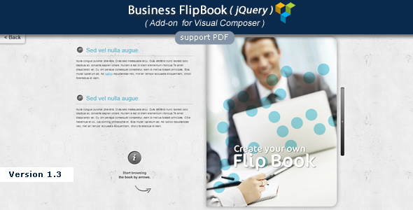Visual Composer Add-on - Business jQuery FlipBook - CodeCanyon Item for Sale