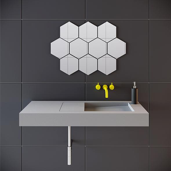 Concrete Flor Washbasin - 3DOcean Item for Sale