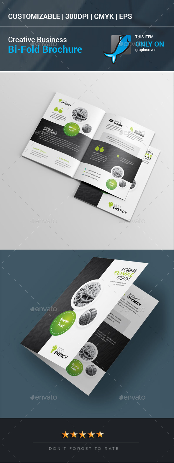 Creative Business Bi-Fold Brochure - Corporate Brochures
