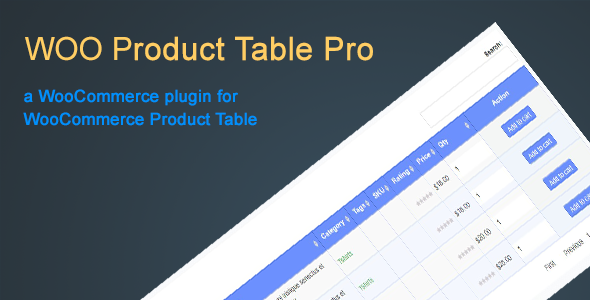 Woo Product Table Pro - CodeCanyon Item for Sale