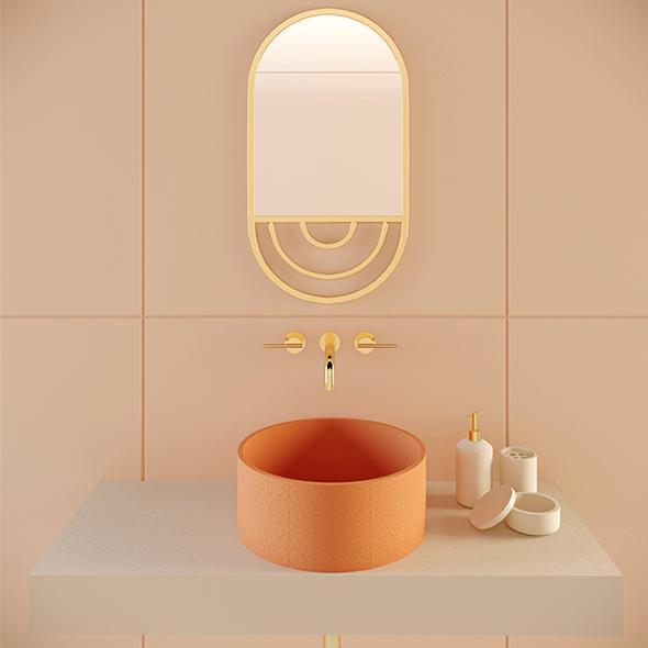 Concrete Mara Washbasin - 3DOcean Item for Sale