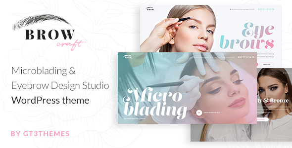 Image of Browcraft - Microblading & Eyebrow Beauty Salon WordPress theme