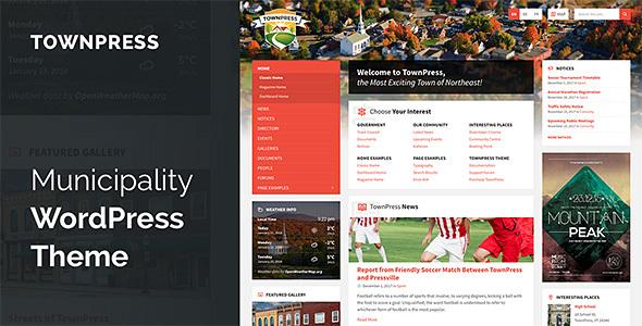Image of TownPress - Municipality WordPress Theme