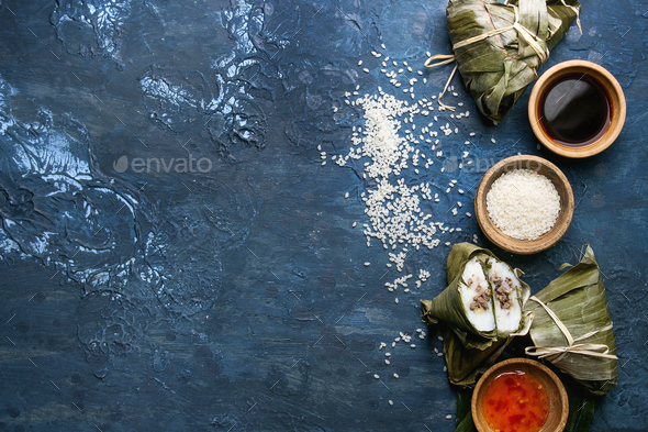 Rice piramidal dumplings - Stock Photo - Images