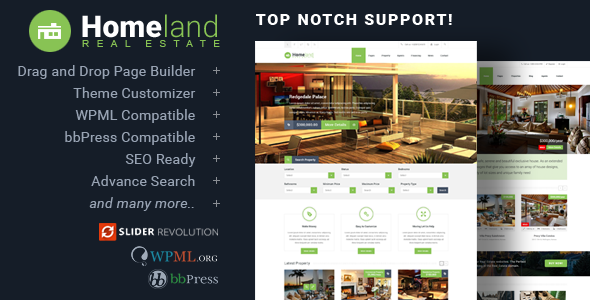 Homeland - Responsive Real Estate Theme for WordPress