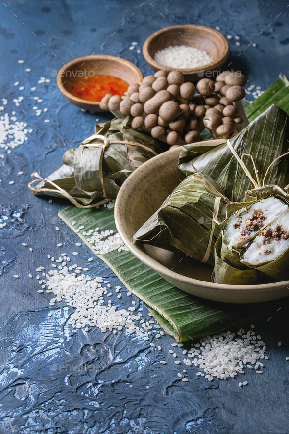 Rice piramidal dumplings - Stock Photo - Images