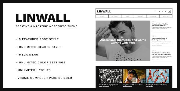 Linwall - Responsive WordPress Blog Theme - Blog / Magazine WordPress