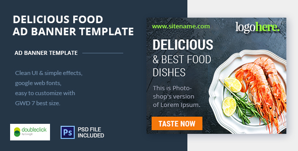 Food and Restaurant HTML Ad Banner 05 Free Download | Nulled