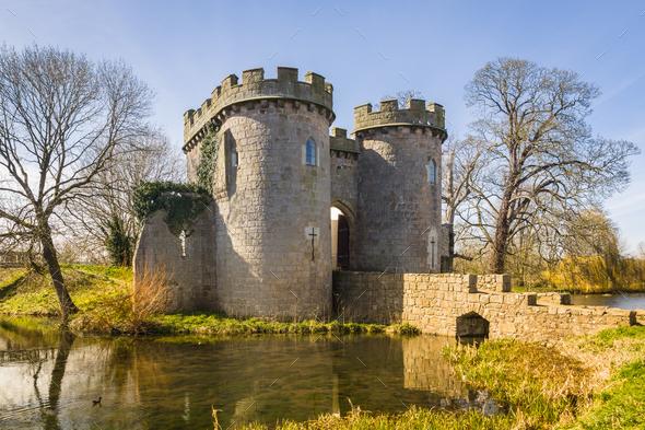 Whittington Castle Shropshire England - Stock Photo - Images
