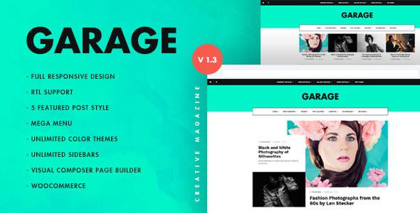 Garage Creative & Magazine WordPress Theme - Blog / Magazine WordPress