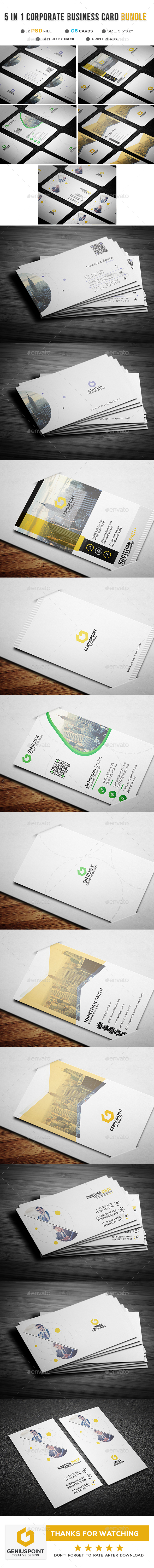 5 in 1 Borporate Business Card Bundle - Corporate Business Cards