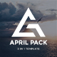 April Pack 3 in 1 Bundle Creative Powerpoint Template - GraphicRiver Item for Sale