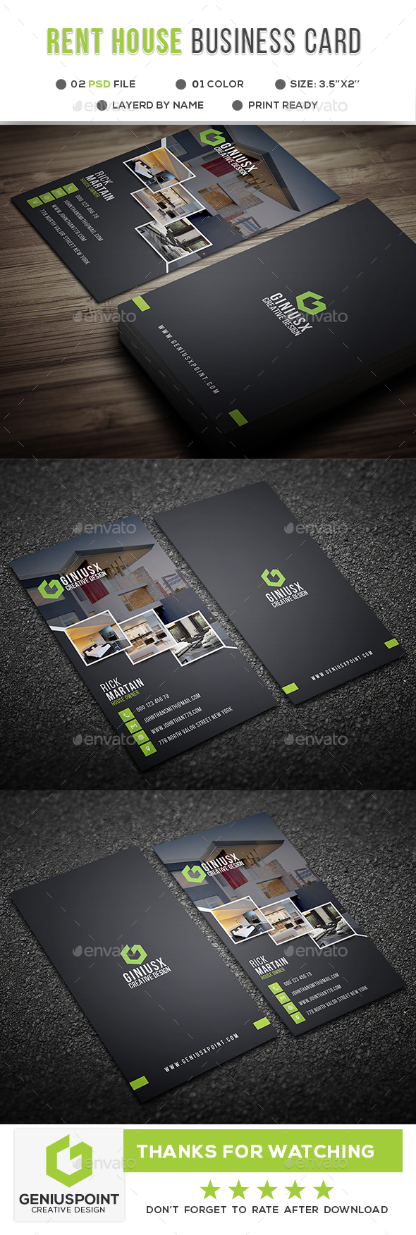 Rent A House Business Card