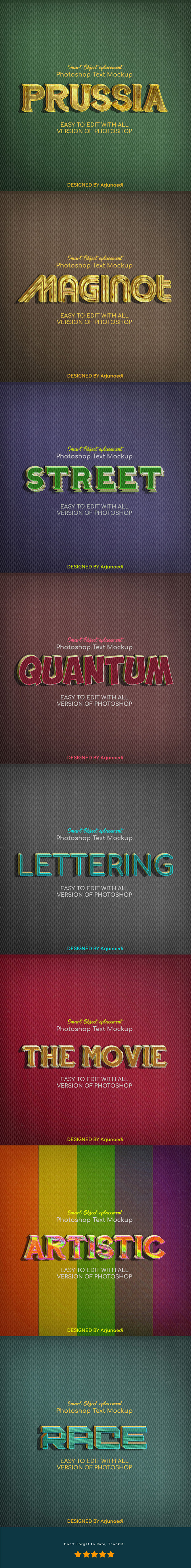 Retro Text Effect Styles - Text Effects Styles