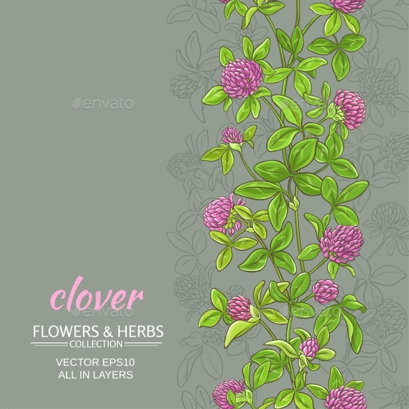 Clover Vector Background - Flowers & Plants Nature