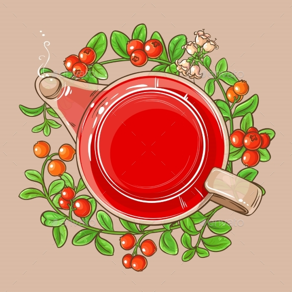 Cranberry Tea in Teapot - Food Objects