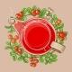 Cranberry Tea in Teapot