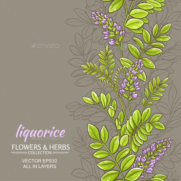 Licorice Vector Background - Flowers & Plants Nature