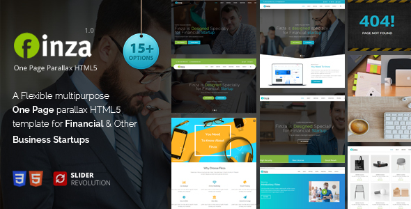 Finza - One Page Parallax Free Download | Nulled