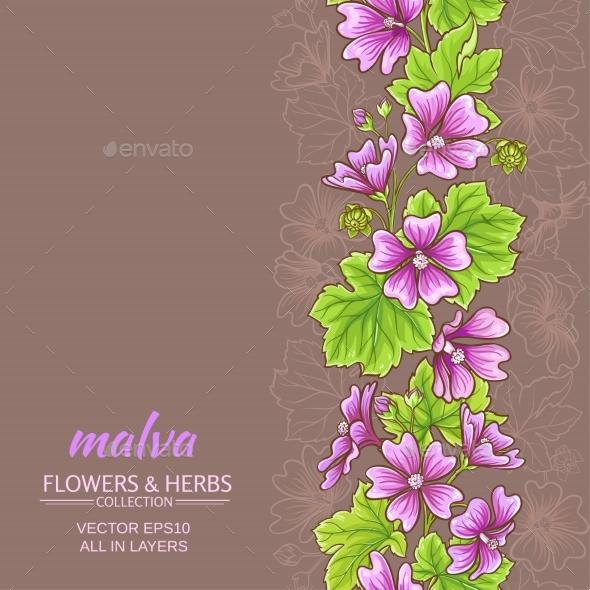 Malva Vector Background - Flowers & Plants Nature