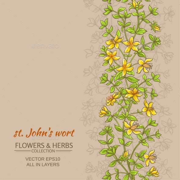 Tutsan Vector Background - Flowers & Plants Nature