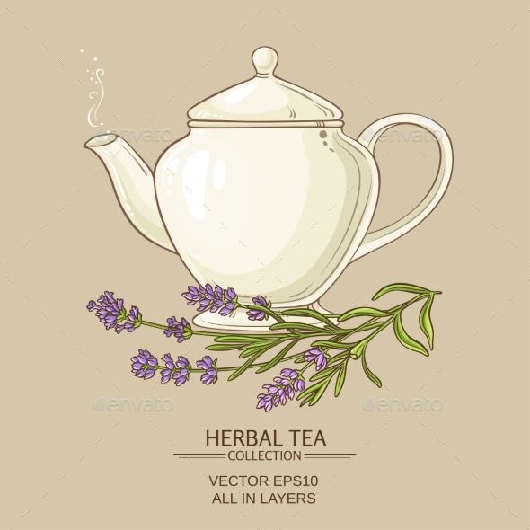 Lavender Tea in Teapot - Flowers & Plants Nature