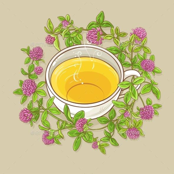 Cup of Clover Tea - Health/Medicine Conceptual