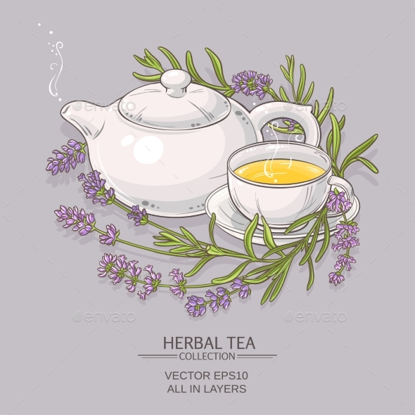 Lavender Tea Background - Health/Medicine Conceptual
