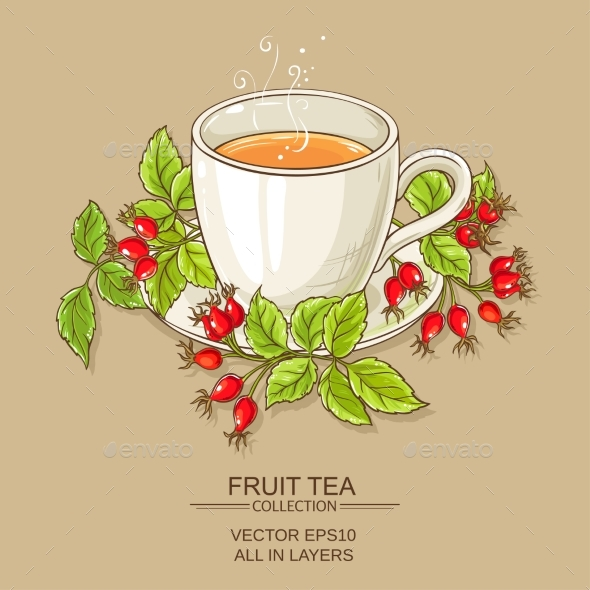 Mug of Rose  Hips Tea - Food Objects